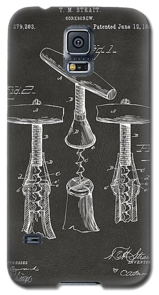 1883 Wine Corckscrew Patent Artwork - Gray Galaxy S5 Case