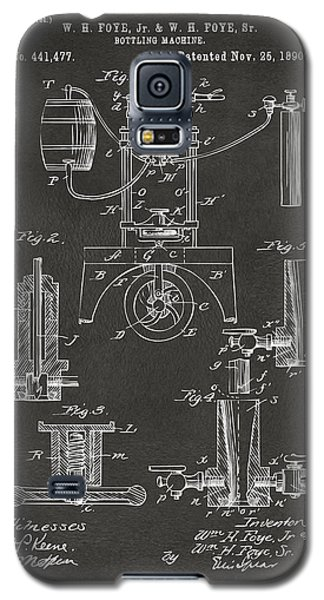 1890 Bottling Machine Patent Artwork Gray Galaxy S5 Case