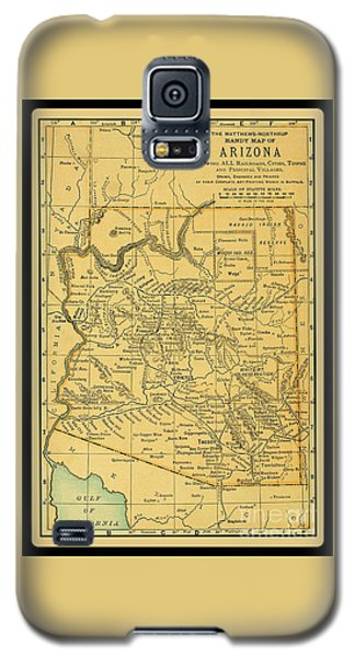 1891 Arizona Map Galaxy S5 Case