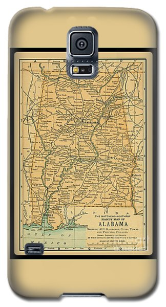 1891 Map Of Alabama Galaxy S5 Case