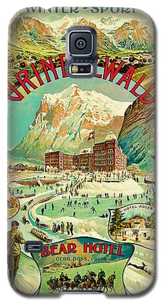 Galaxy S5 Case featuring the mixed media 1893 Grindelwald Vintage Travel Art by Presented By American Classic Art