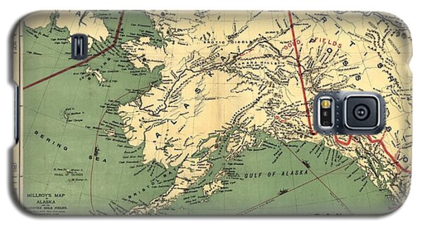 Galaxy S5 Case featuring the photograph 1897 Map Of Alaska by Charles Beeler