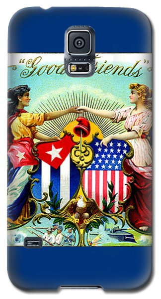 1898 Good Friends Cuban Cigars Galaxy S5 Case by Historic Image