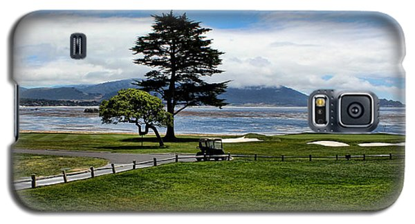 18th At Pebble Beach Panorama Galaxy S5 Case by Judy Vincent