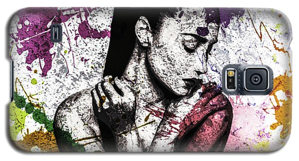 Galaxy S5 Case featuring the digital art Demi Lovato by Svelby Art