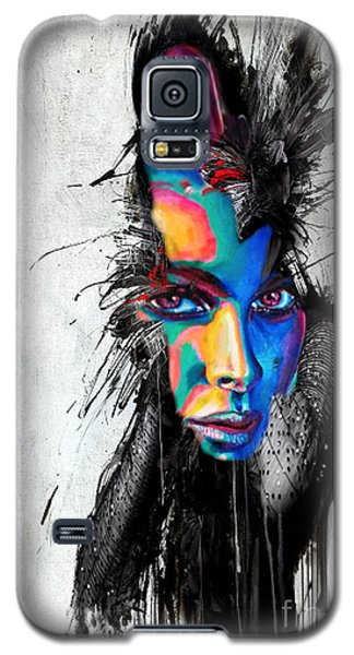 Galaxy S5 Case featuring the painting Facial Expressions by Rafael Salazar