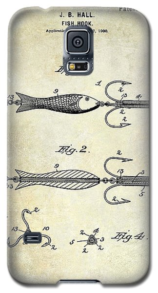 1900 Fishing Hook Patent Drawing Galaxy S5 Case