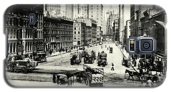 1900 Wall Street New York City Galaxy S5 Case by Historic Image