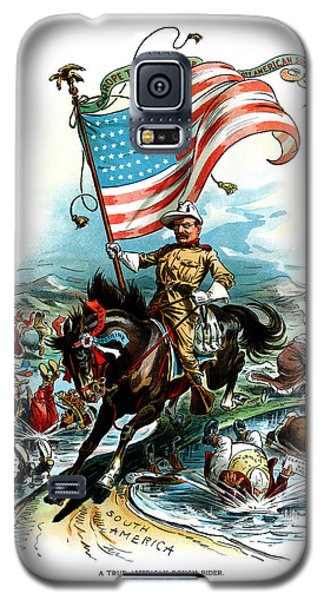 1902 Rough Rider Teddy Roosevelt Galaxy S5 Case by Historic Image