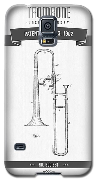 1902 Trombone Patent Drawing Galaxy S5 Case by Aged Pixel