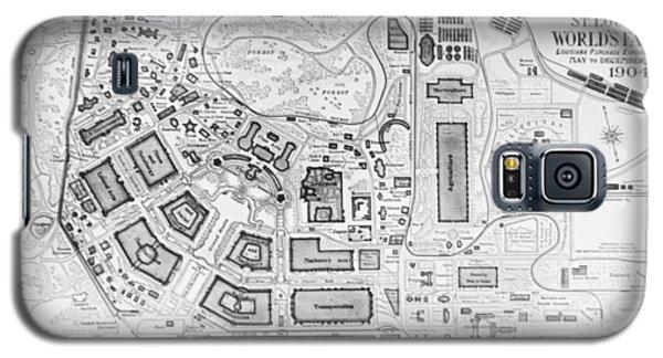 1904 Worlds Fair Fair Grounds Map Galaxy S5 Case