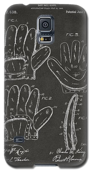 Baseball Gloves Galaxy S5 Case - 1910 Baseball Glove Patent Artwork - Gray by Nikki Marie Smith