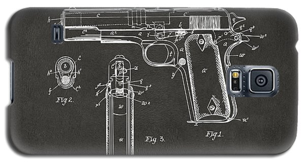 1911 Browning Firearm Patent Artwork - Gray Galaxy S5 Case by Nikki Marie Smith