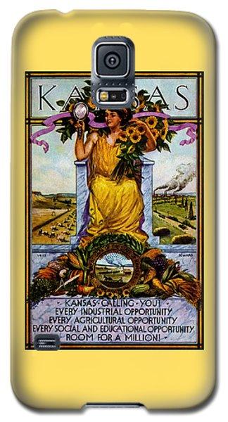 1911 Kansas Poster Galaxy S5 Case