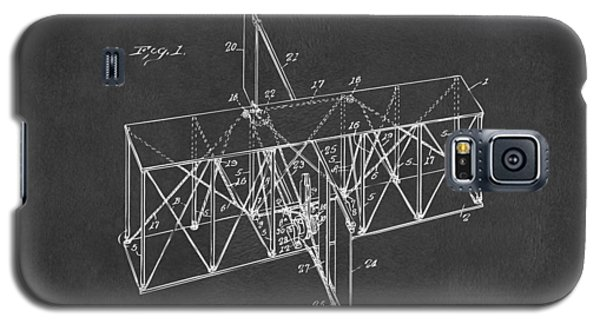Galaxy S5 Case featuring the drawing 1914 Wright Brothers Flying Machine Patent Gray by Nikki Marie Smith