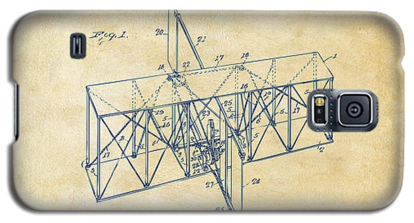 Galaxy S5 Case featuring the drawing 1914 Wright Brothers Flying Machine Patent Vintage by Nikki Marie Smith