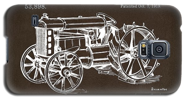 Galaxy S5 Case featuring the drawing 1919 Henry Ford Tractor Patent Espresso by Nikki Marie Smith