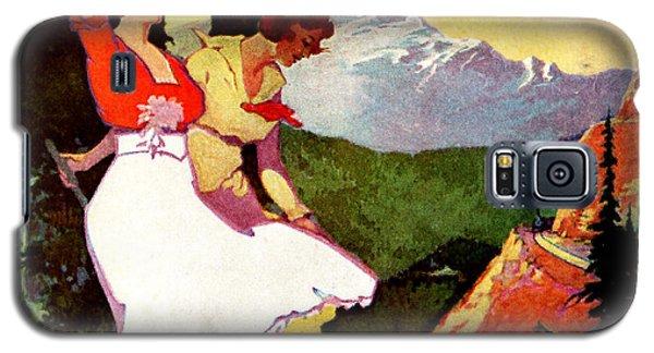 1919 Pikes Peak Colorado Poster Galaxy S5 Case by Historic Image