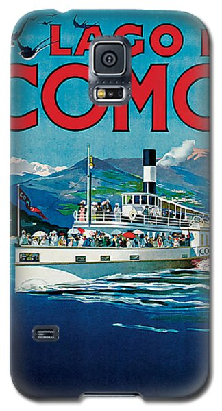 Galaxy S5 Case featuring the mixed media 1920 Lago Di Como Vintage Travel Art  by Presented By American Classic Art