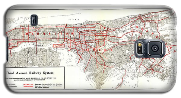 1922 Map Third Avenue Railway Galaxy S5 Case