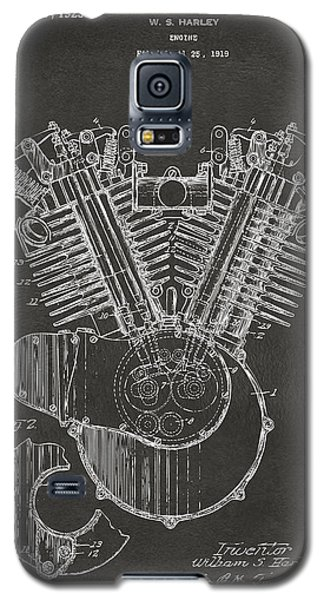 1923 Harley Engine Patent Art - Gray Galaxy S5 Case