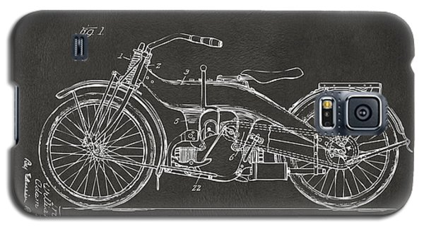 1924 Harley Motorcycle Patent Artwork - Gray Galaxy S5 Case by Nikki Marie Smith