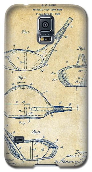 1926 Golf Club Patent Artwork - Vintage Galaxy S5 Case by Nikki Marie Smith
