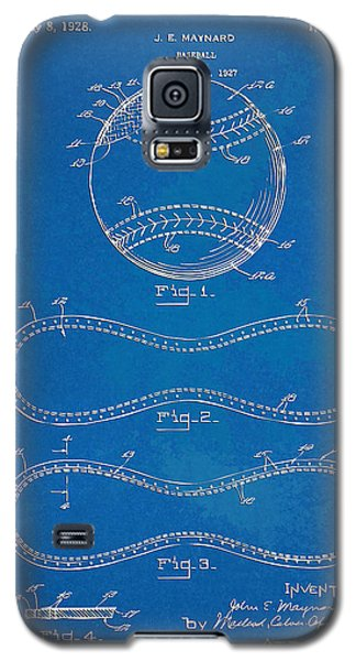 1928 Baseball Patent Artwork - Blueprint Galaxy S5 Case