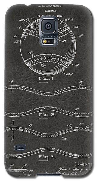 1928 Baseball Patent Artwork - Gray Galaxy S5 Case