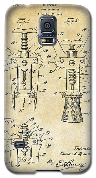 1928 Cork Extractor Patent Art - Vintage Black Galaxy S5 Case