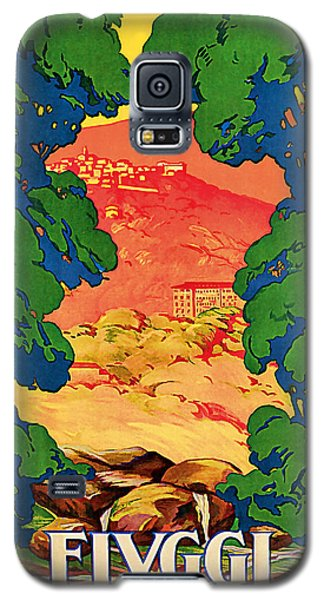 Galaxy S5 Case featuring the mixed media 1928 Fivggi Vintage Travel Art by Presented By American Classic Art