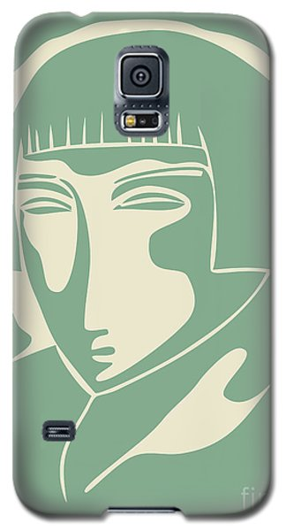 1928 Woman Face  Green Galaxy S5 Case