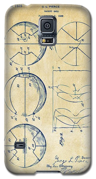 1929 Basketball Patent Artwork - Vintage Galaxy S5 Case by Nikki Marie Smith