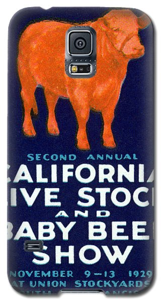 1929 California Beef Galaxy S5 Case by Historic Image