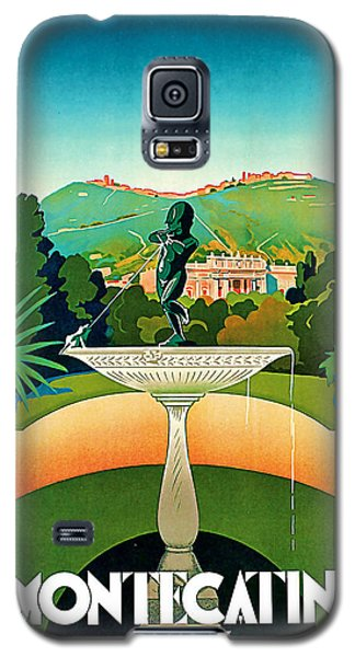 Galaxy S5 Case featuring the mixed media 1930 Montecatini Italy Vintage Travel Art by Presented By American Classic Art