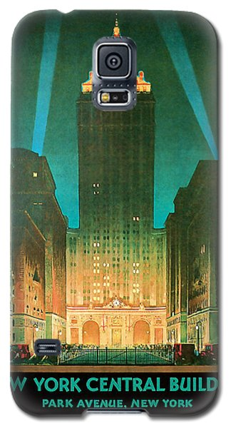 1930 New York Central Building - Vintage Travel Art Galaxy S5 Case
