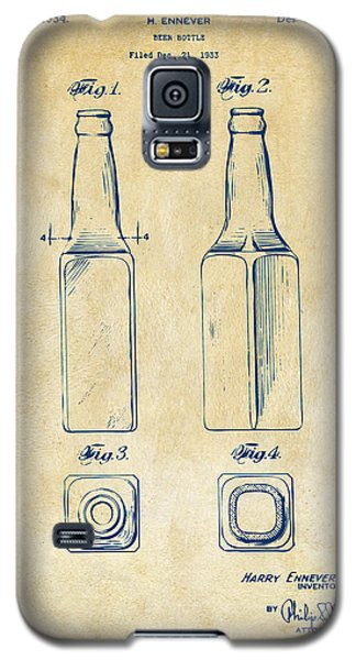 1934 Beer Bottle Patent Artwork - Vintage Galaxy S5 Case by Nikki Marie Smith
