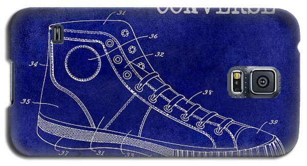 1934 Converse Shoe Patent Drawing Blue Galaxy S5 Case