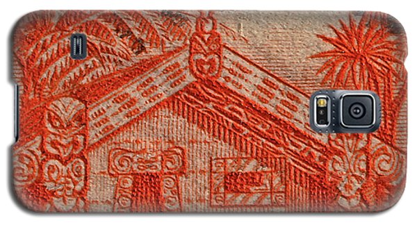 1935 Carved Maori House New Zealand Stamp Galaxy S5 Case