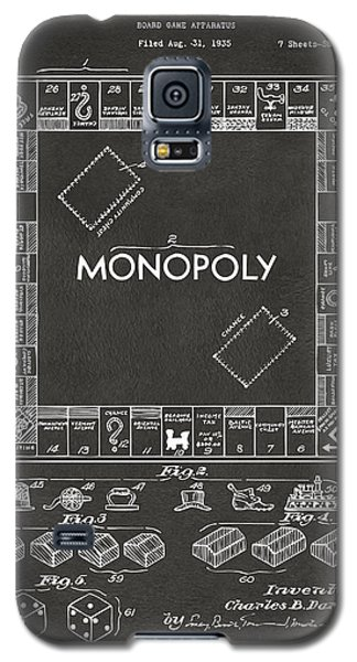 1935 Monopoly Game Board Patent Artwork - Gray Galaxy S5 Case