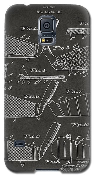 1936 Golf Club Patent Artwork - Gray Galaxy S5 Case