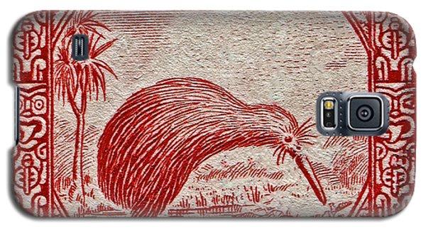 1936 New Zealand Kiwi Stamp Galaxy S5 Case by Bill Owen