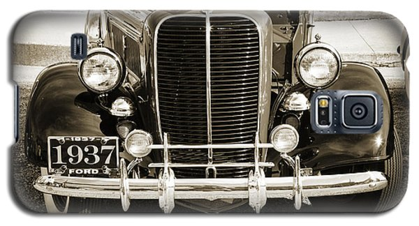 1937 Ford Pickup Truck Classic Car Front End Photograph In Sepia Galaxy S5 Case