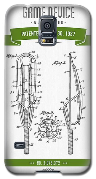 Sport Art Galaxy S5 Case - 1937 Game Device Patent Drawing - Retro Green by Aged Pixel