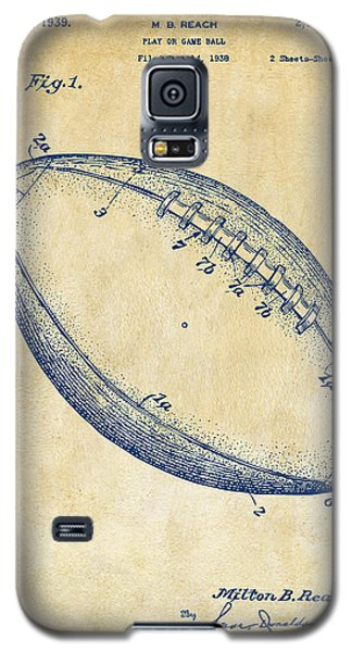 1939 Football Patent Artwork - Vintage Galaxy S5 Case by Nikki Marie Smith