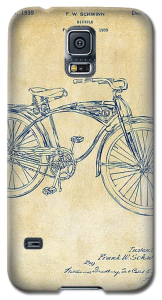 1939 Schwinn Bicycle Patent Artwork Vintage Galaxy S5 Case by Nikki Marie Smith