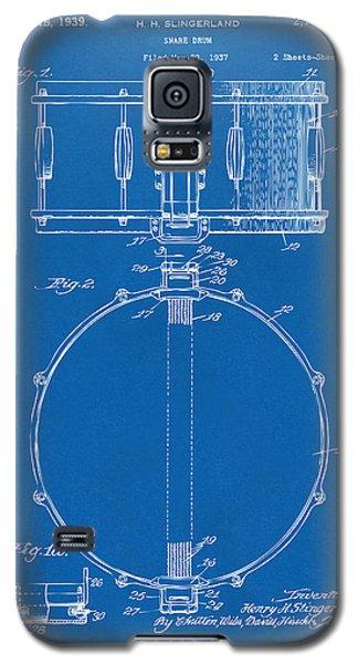 Drum Galaxy S5 Case - 1939 Snare Drum Patent Blueprint by Nikki Marie Smith