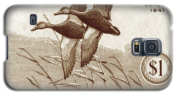 1940 American Bird Hunting Stamp Galaxy S5 Case by Historic Image