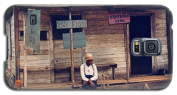 Galaxy S5 Case featuring the photograph 1940 Catfish Store Natchitoches Louisiana by Merton Allen