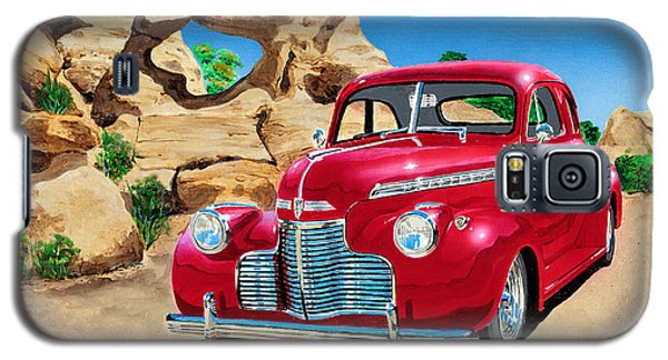 1940 Chevy Coupe In The Rocks Galaxy S5 Case